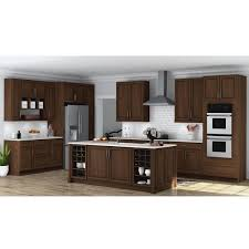 home depot kitchen cabinets hton bay hton assembled 30x30x12 in wall kitchen cabinet in cognac