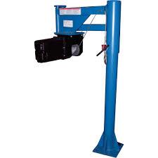vestil dc powered lifter jib crane u2014 400 lb capacity model van
