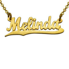 name gold necklace gold plated underlined script name necklace gpnn 03