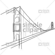 bridge clipart golden gate bridge pencil and in color bridge