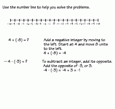 numbers adding and subtracting integers examples