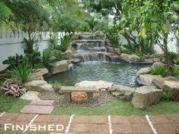 Backyard Decor Best 25 Outdoor Waterfalls Ideas On Pinterest Backyard Water