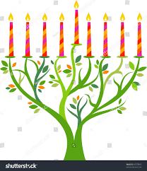 menorah tree of hanukkah menorah tree candles stock vector 65578843