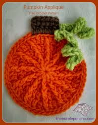 cute pumpkin applique u2013 free crochet pattern the purple poncho