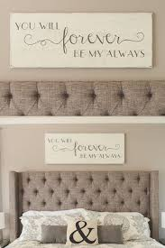 Bedroom Wall Decor  You Will Forever Be My Always  Wood Signs - Ideas to decorate a bedroom wall