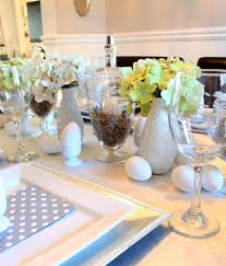 Apothecary Jars Decorated For Easter by Easter Table Setting Using Thrift Store Apothecary Jars A Purdy