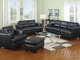 platinum black bonded leather sofa set 15090 set by acme living