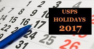usps holidays us postal service schedule 2017