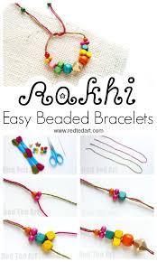 bracelet diy easy images How to make a bead rakhi bracelet with kids red ted art 39 s blog