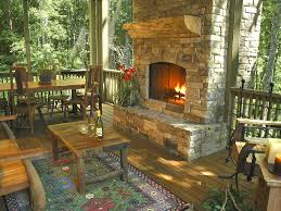 Outdoor Fireplace Cabin Make Over Trend Tice Construction