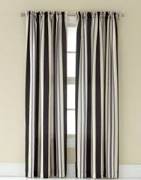 Grey White Striped Curtains Wide Striped Curtains Foter