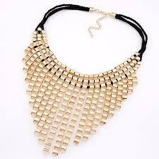 gold necklace statement images Raindrops statement necklace gold top layer boutique jpg