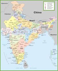 India On The World Map by Goa India 2016