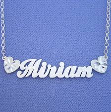 Name Necklaces Silver Name Necklace Silver Miriam Personalized Jewelry