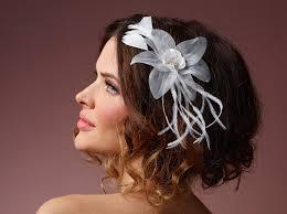 hair corsage hair corsage organza flower bb 365 poirier