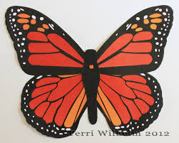 monarch butterfly clipart color cut out pencil and in color