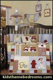 Firefighter Crib Bedding Vintage Baby Truck Nursery Crib Bedding Set With