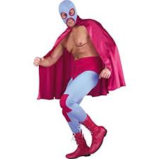 Mexican Halloween Costumes Amazon Mexican Wrestler Costume Size 38 Clothing