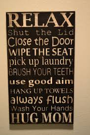 relax sign for bathroom best bathroom decoration