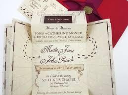 harry potter wedding invitations etsy marauders map wedding invitations best wedding 2017