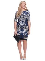 julian taylor scuba dress in navy print gwynnie bee