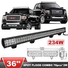 Truck Bed Light Bar 36inch 234w Curved Cree Led Light Bars Spot Flood Combo Light Car