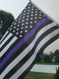 Blue And Black Striped Flag 4 By 6 Foot Blueline Flag Thin Blue Line Flag Black White And
