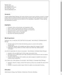 Assistant Marketing Manager Resume Sample Brand Manager Resume Examples Marketing Manager Resume Free