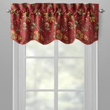 waverly red felicity floral window valances set of 2 christmas