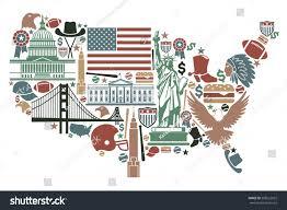 Images Of The Usa Map by Traditional Symbols Form Usa Map Stock Vector 208522927 Shutterstock
