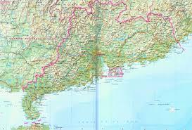 China Physical Map by Guangdong Map Map Of Guangdong China China Travel Map