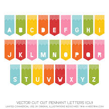 cut out pennant letters cu miss tiina