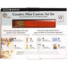 simply creative mini canvas art set 58 pieces walmart com