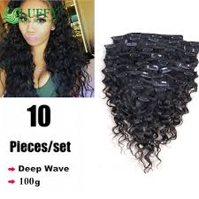 Yaki Clip In Human Hair Extensions by 100gram Virgin Human Clip In Extensions Deep Wave Brazilian Virgin
