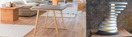 meuble cuisine d été cuisine d été meuble bois massif et plan de travail béton