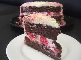 double chocolate raspberry rose ombre cake hungryhinny