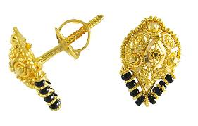 gold earrings tops gold earrings for women 22kt gold tops ergt2888 22kt gold