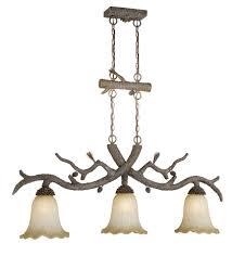 rustic chandeliers aspen ponderosa 3 light pendant black forest decor