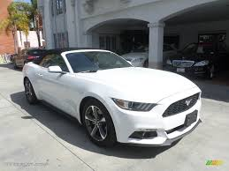 white ford mustang convertible 2015 oxford white ford mustang v6 convertible 111428338