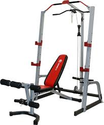 marcy md 8851r deluxe smith cage system w bench u0027s sporting