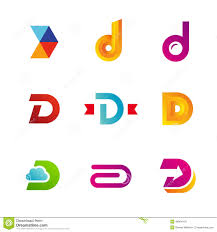 set of letter d logo icons design template elements stock vector