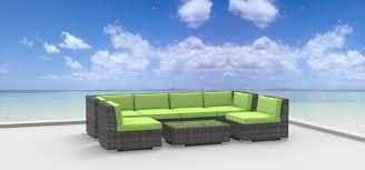 Green Wicker Patio Furniture - oahu 7pc ultra modern wicker patio set www urbanfurnishing net