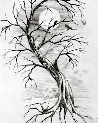 photos creepy tree sketches drawings gallery