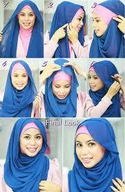tutorial hijab segi empat paris simple kumpulan cara memakai hijab simple untuk remaja