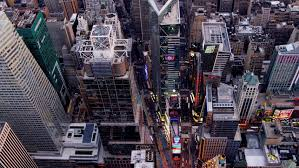 New York where to travel in august images Aerial new york city skyscrapers illuminated modern night footage jpg
