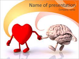 heart vs brain powerpoint template u0026 backgrounds id 0000007241