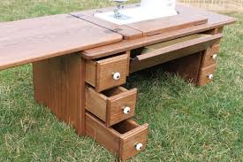 how to make a drop in sewing table amish furniture treadle sewing machine cabinet sewing cabinets
