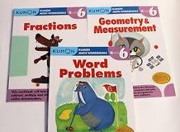 kumon math workbooks grade 6 set 3 books free shipping