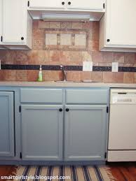 Blue Cabinets Kitchen by Smartgirlstyle Bluey Greeny Grey Kitchen Cabinets Lowers