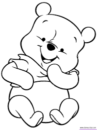 baby pooh printable coloring pages disney coloring book free